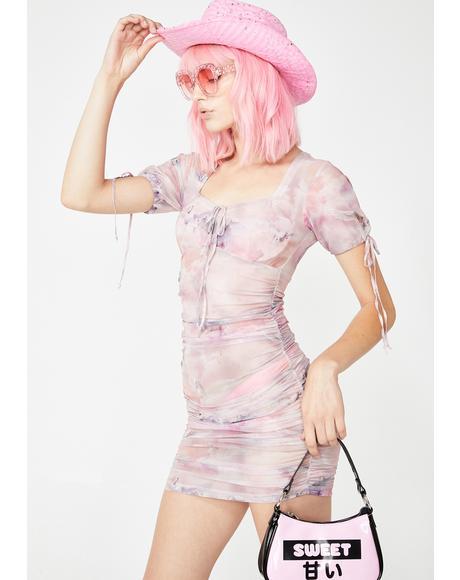 Guenetta Mesh Bodycon Dress