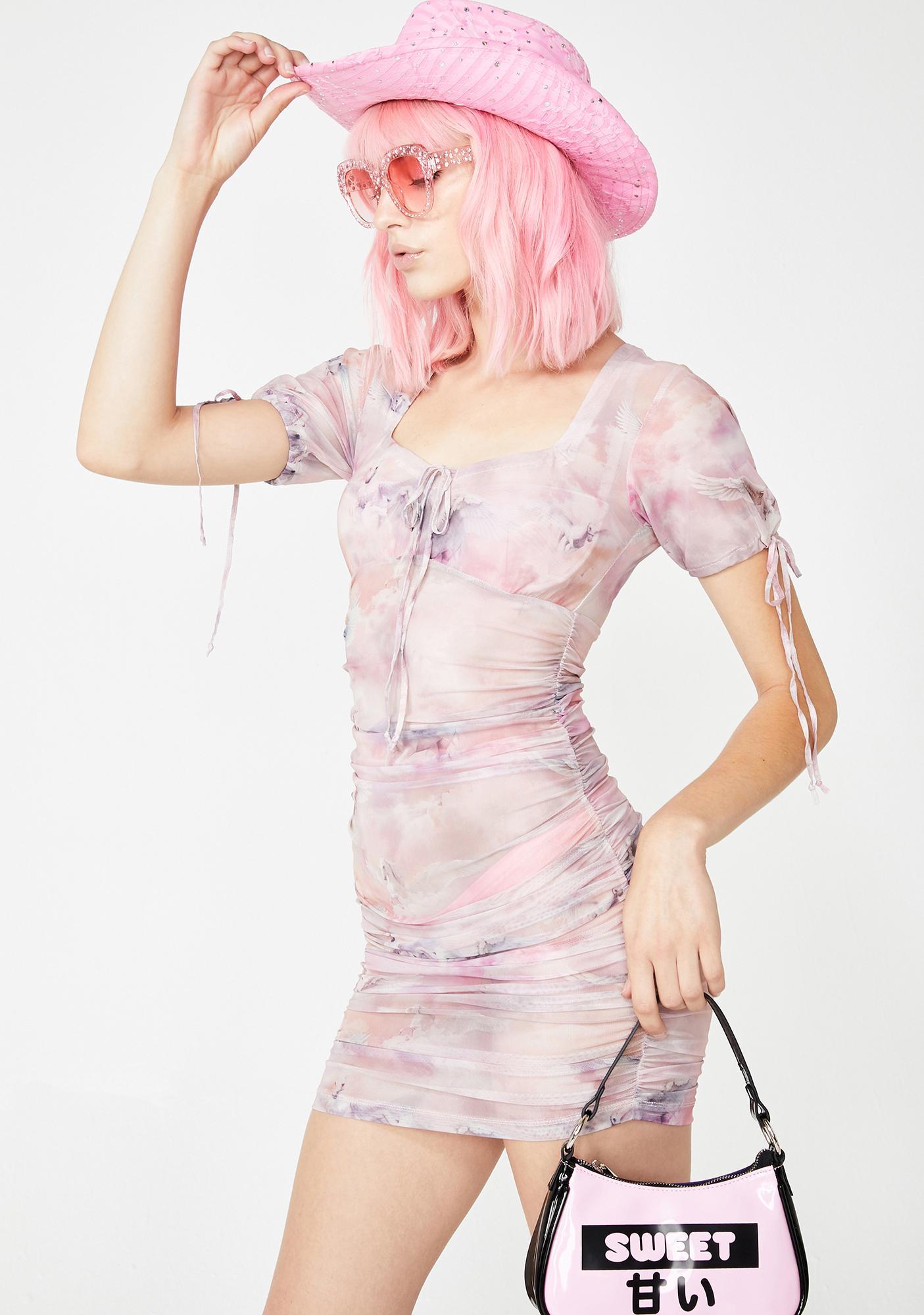 Motel Guenetta Mesh Bodycon Dress