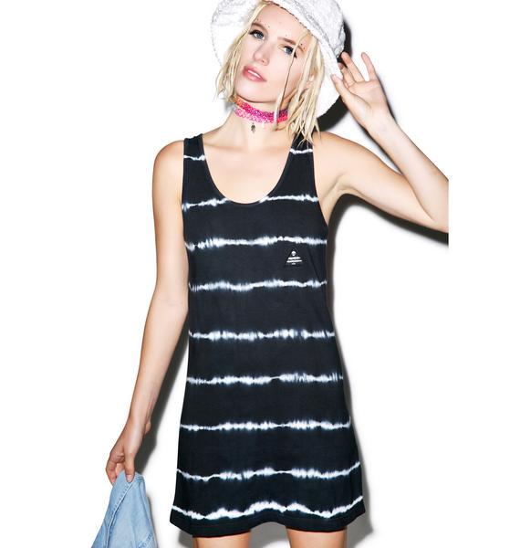 Disturbia Neuron Tie-Dye Tank Dress