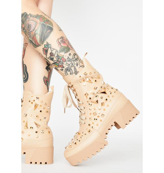 Mind's Made Up Studded Boots