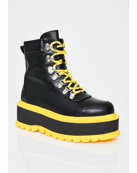 Caution Hydra Matrix Platform Boots