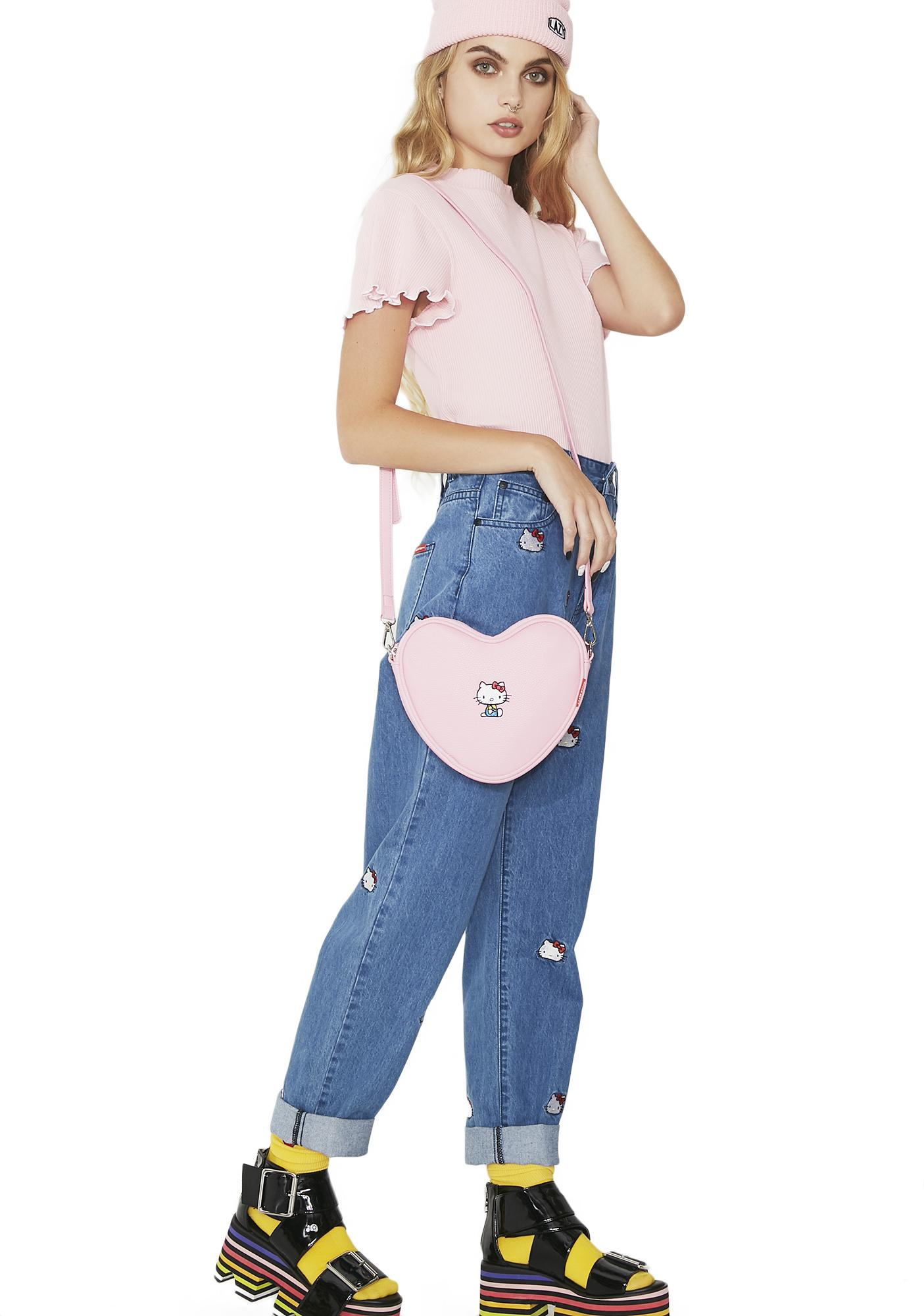 Lazy Oaf Hello Kitty Soft Heart Bag