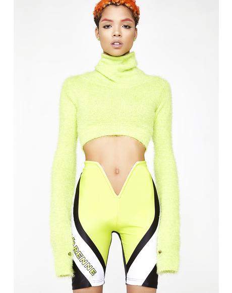 V Cut Biker Shorts