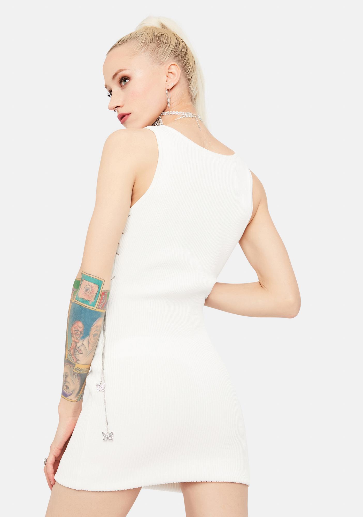 Social Season Lace Up Bodycon Dress