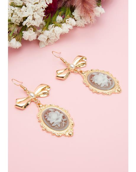 Rose Finale Drop Earrings