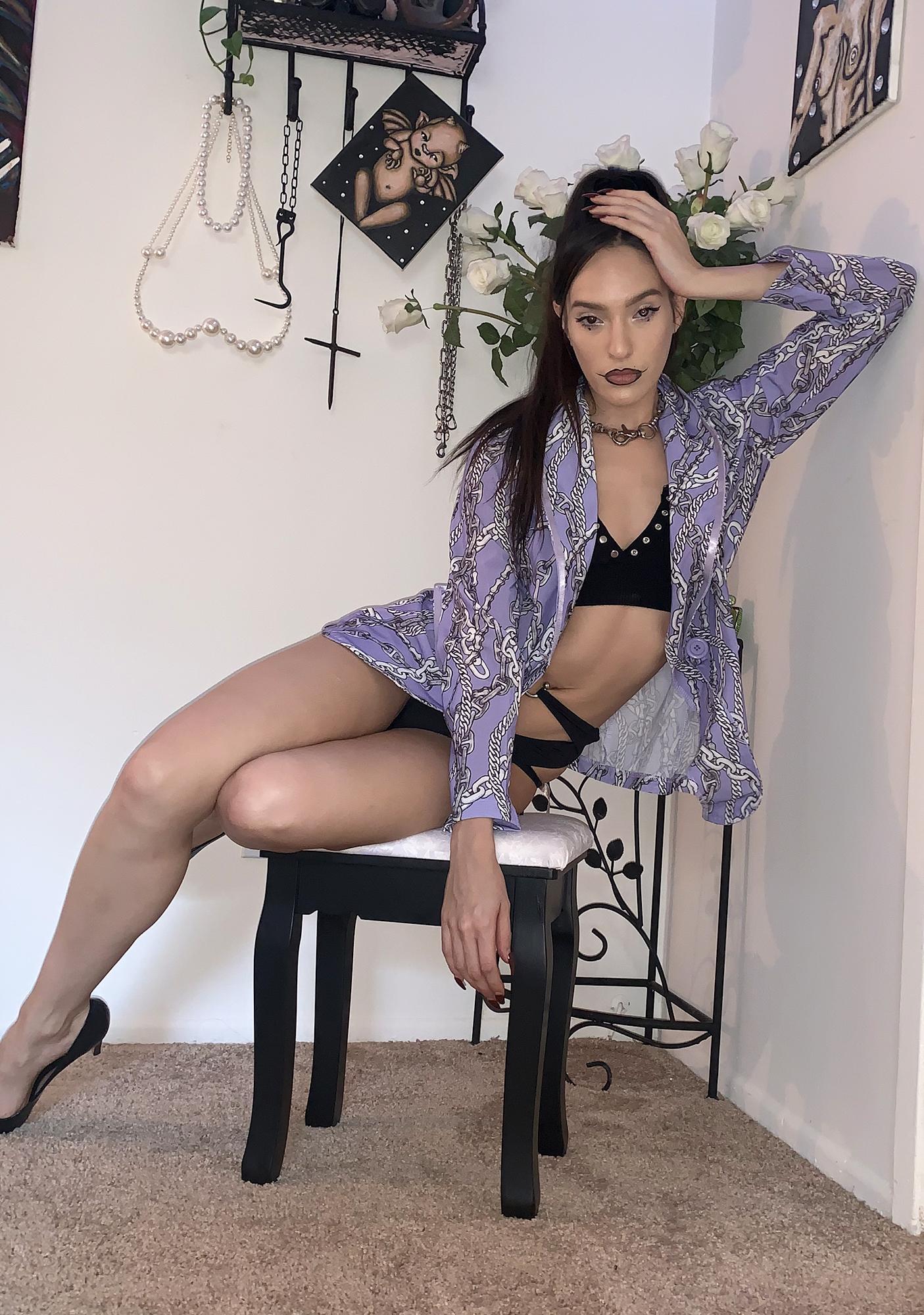 Lavender Lock Me Up Boyfriend Blazer
