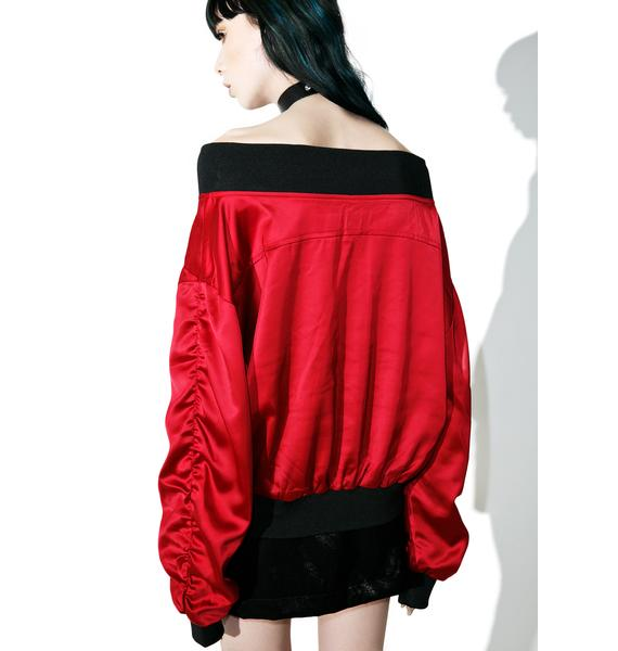 Passion Hold Me Off-Shoulder Jacket