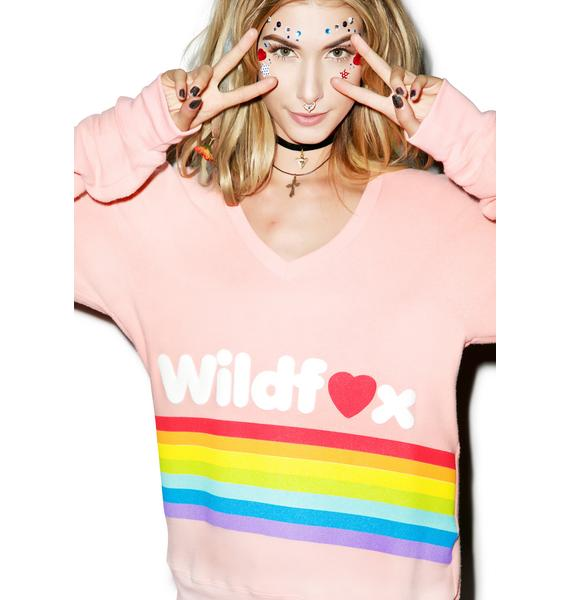 Wildfox Couture Dreams Come True Baggy Beach Jumper