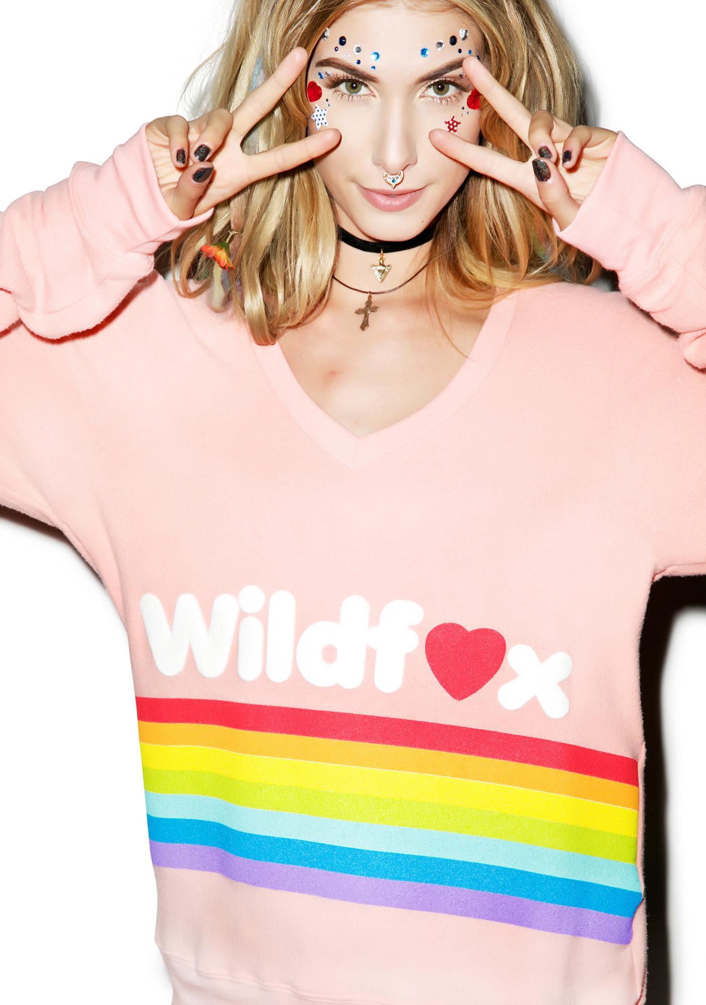 Wildfox Couture Dreams Come True Baggy Beach Jumper