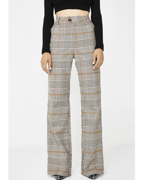 Stroke Of Luck Plaid Pants