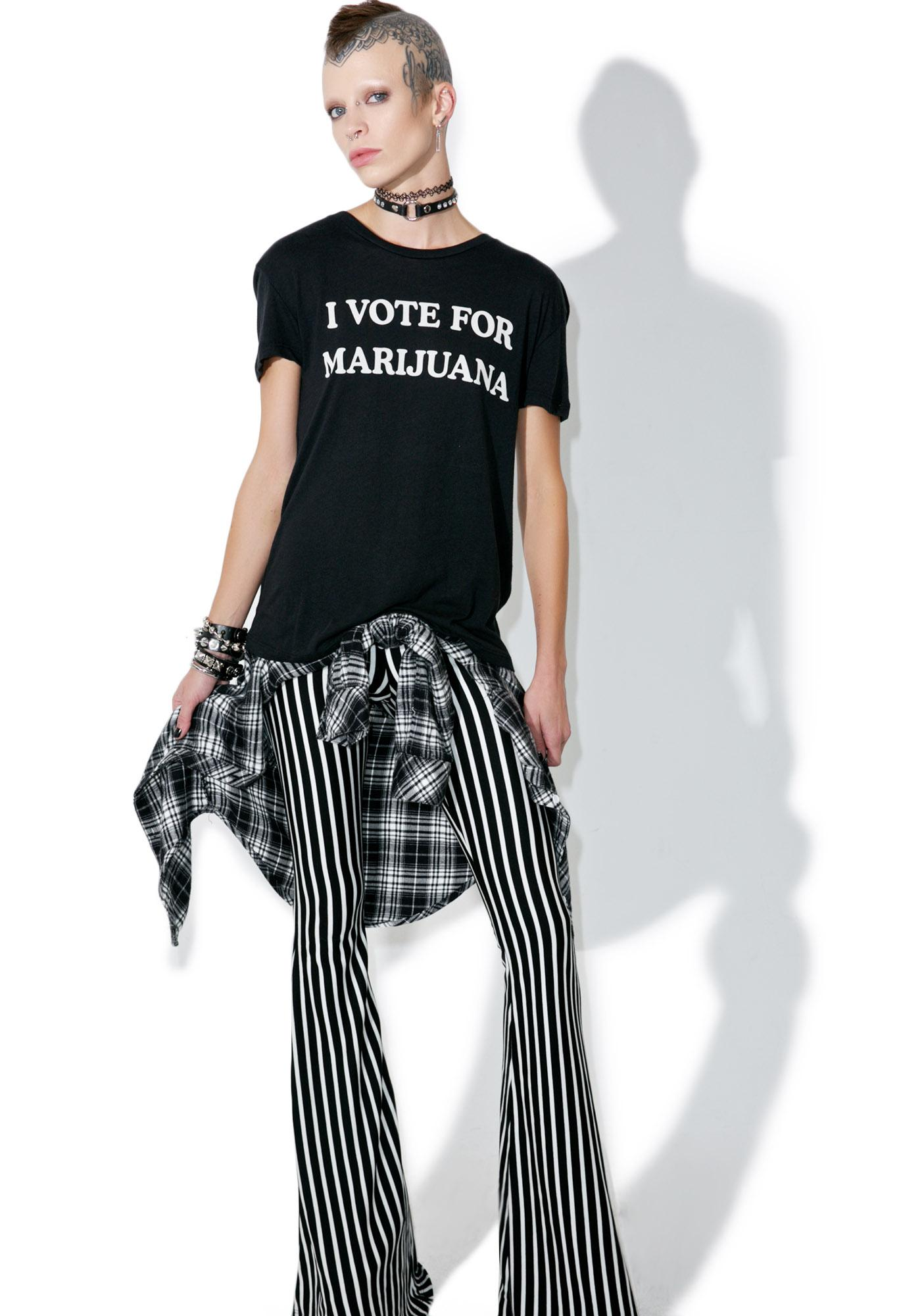 I Vote For Marijuana Tee