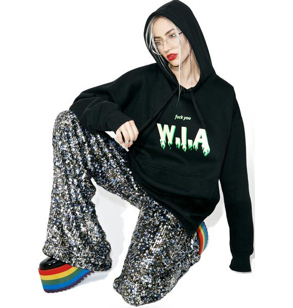 W.I.A On Fire Oversize Hoodie