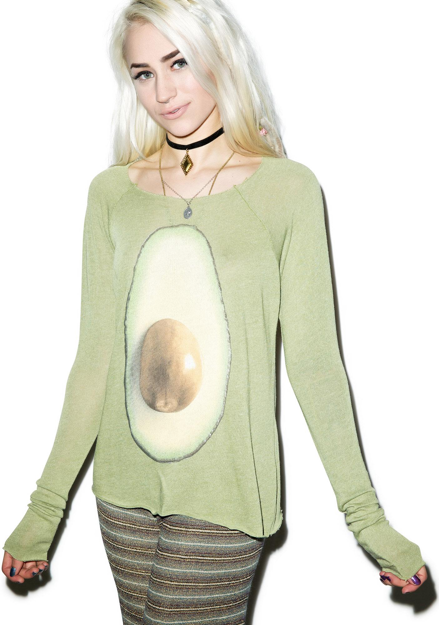 Wildfox Couture Avocado Cozy Raglan Dolls Kill