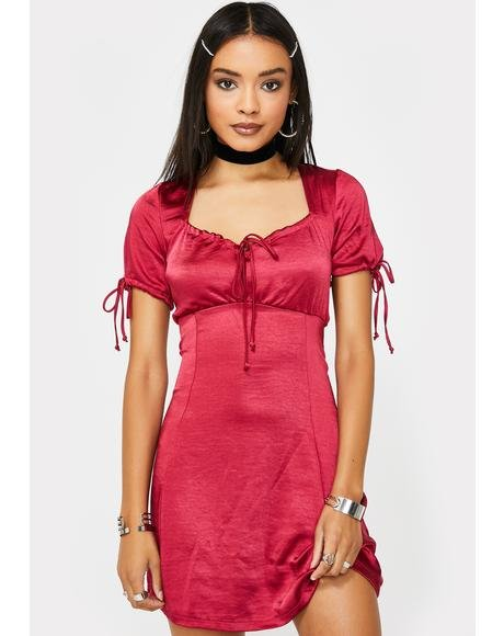 Cherry Guenette Satin Dress