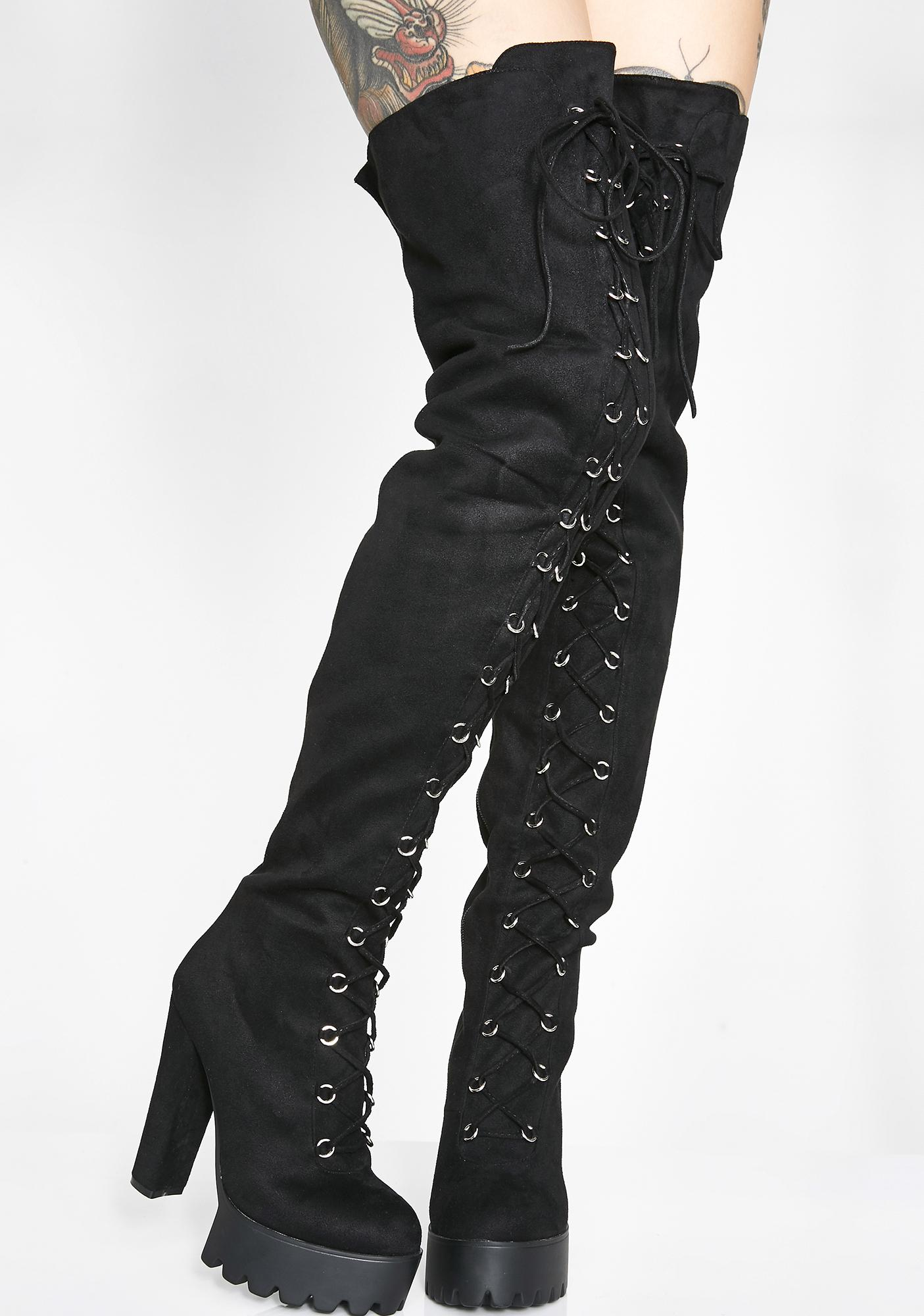 Lamoda Boy Trouble Thigh High Boots