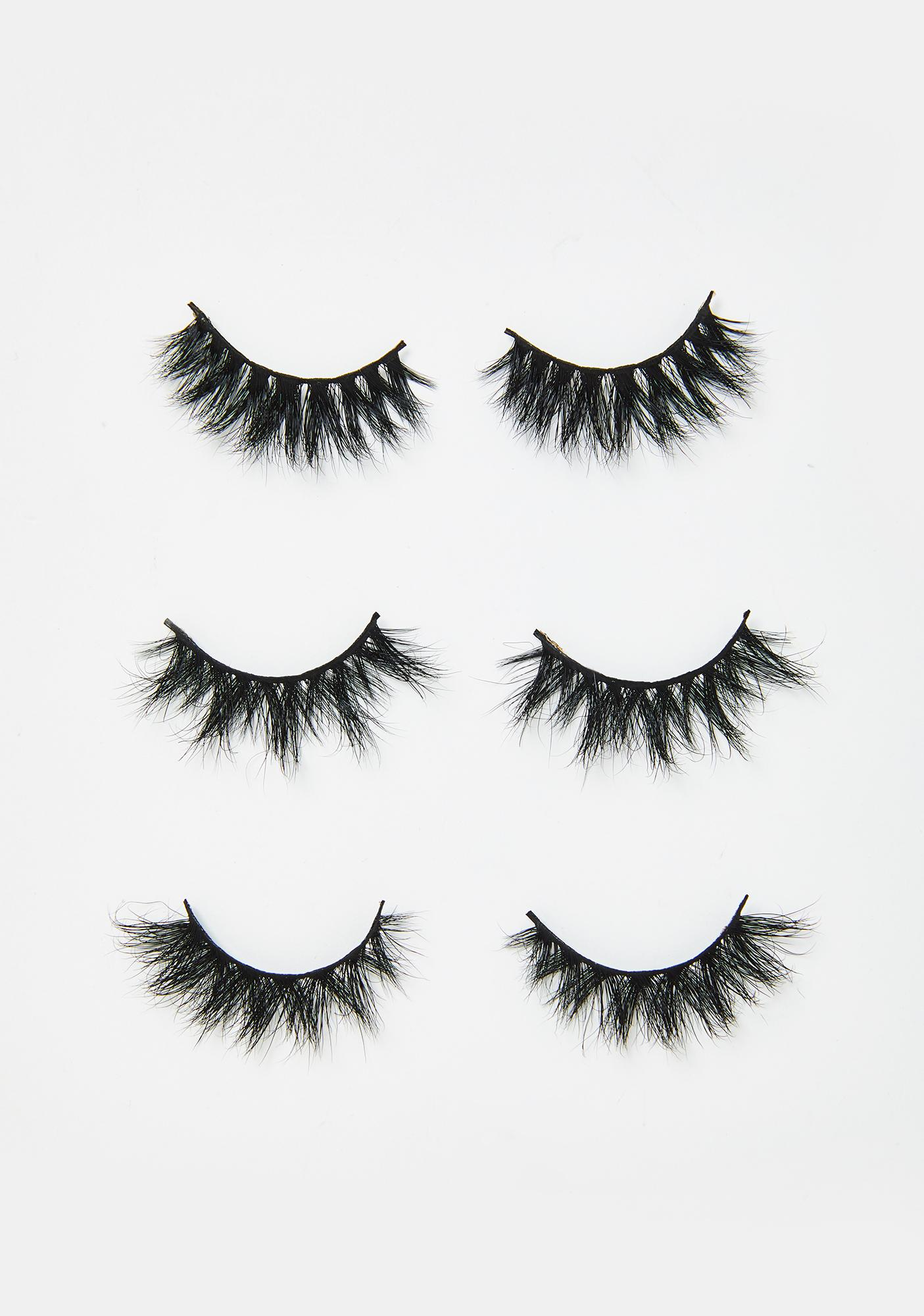 Bombshell Cosmetica Decadent Cinnamon Roll Lashes Set Of 3