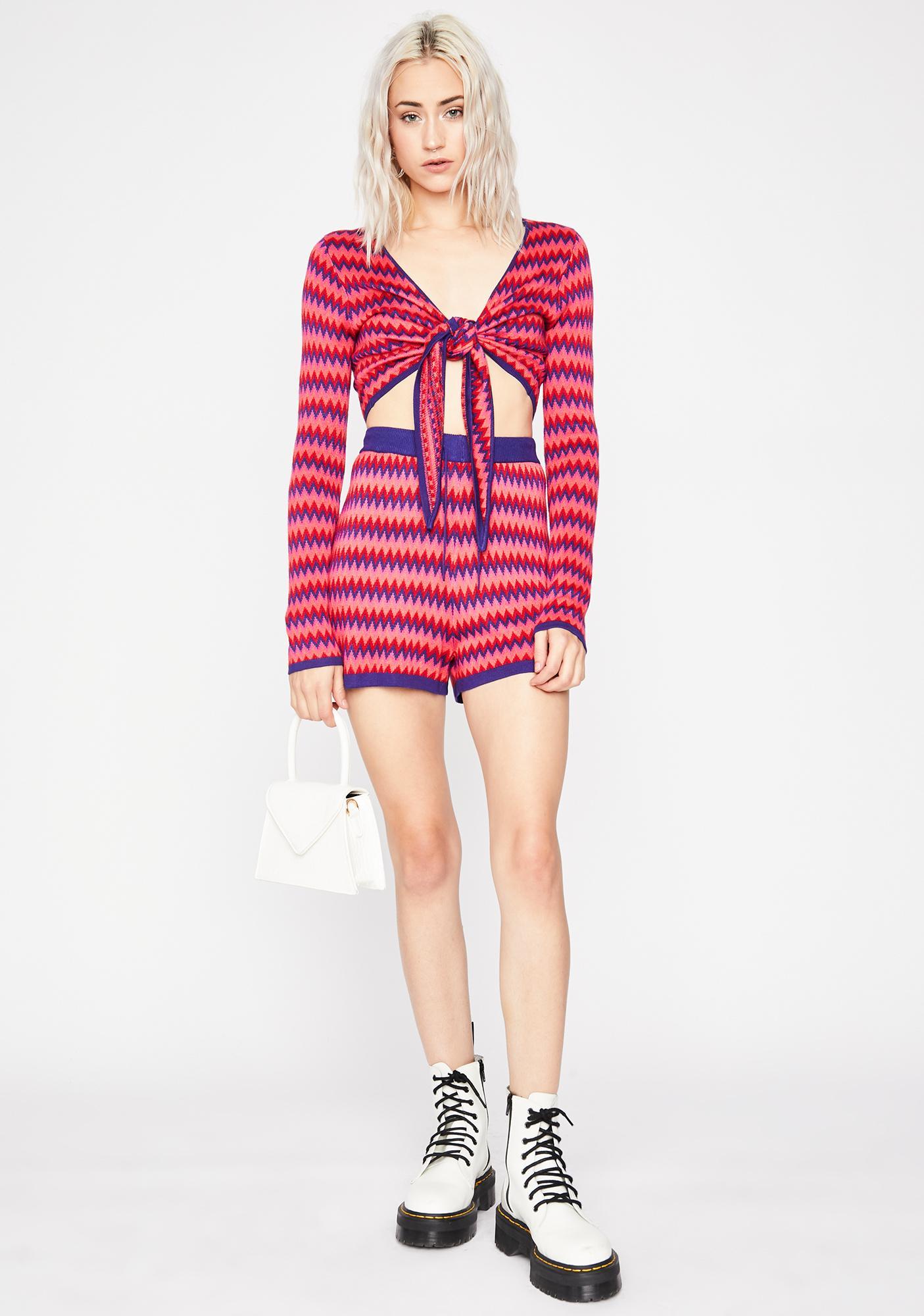 So 70's Knit Shorts
