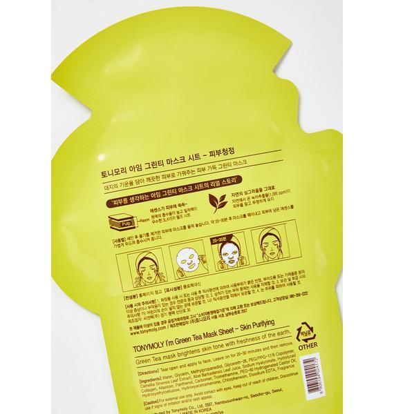 TONYMOLY Green Tea I'm Real Sheet Mask