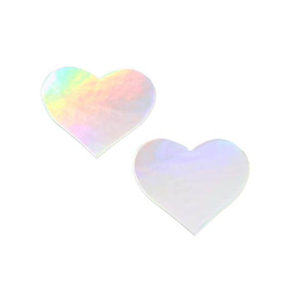 Pastease Holographic Heart Pasties