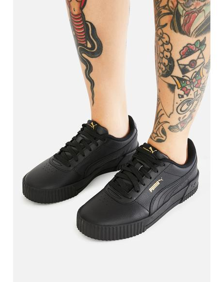 All Black Carina Leather Sneakers