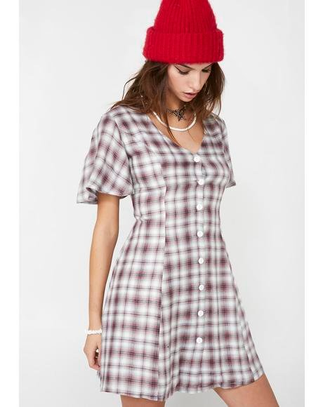 Grudge Match Plaid Dress