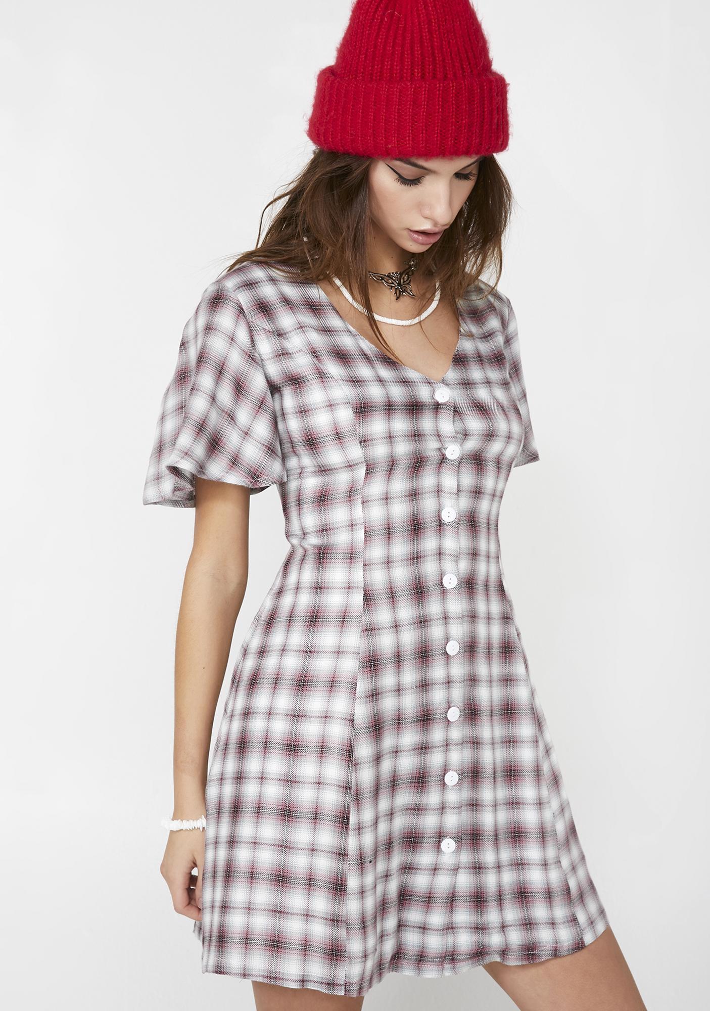 Glamorous Grudge Match Plaid Dress