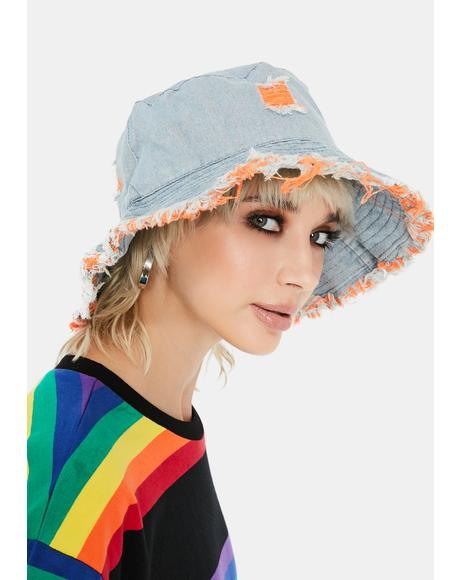 Crush Hidden Identity Denim Bucket Hat