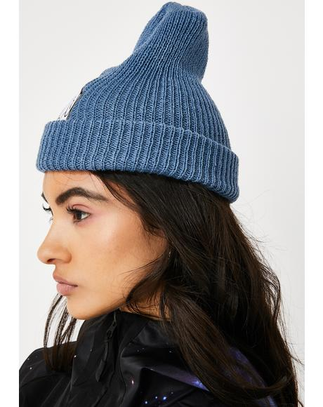 Blue Lord Nermal Ribbed Beanie
