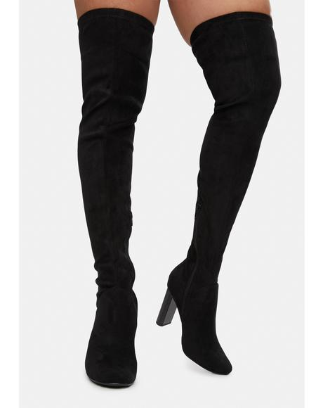 Stunning On The Runway Thigh High Boots