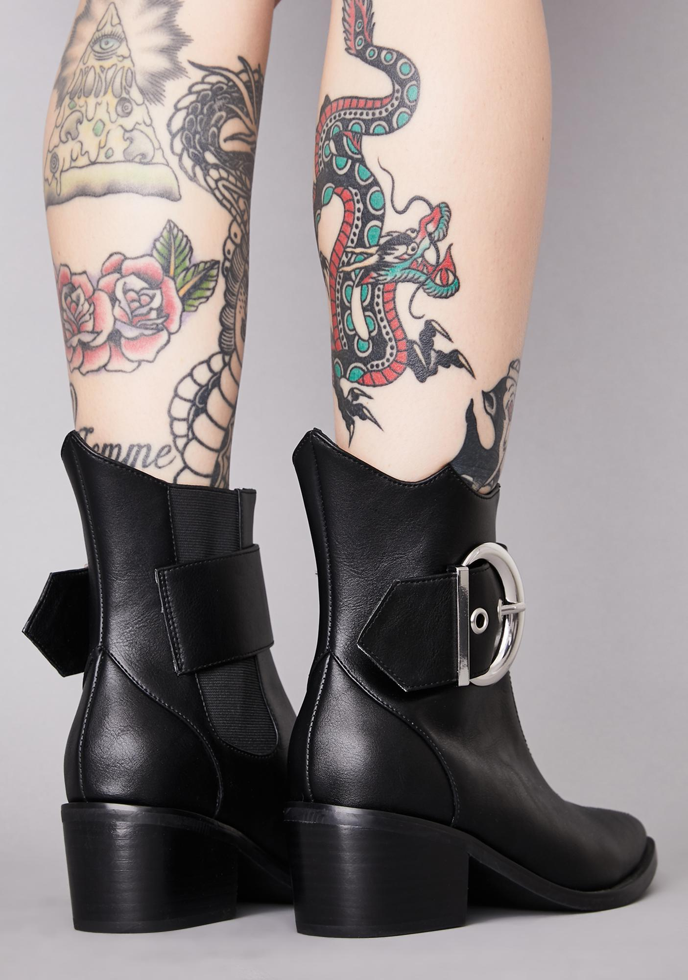 Widow Wicked Lunatic Ankle Boots