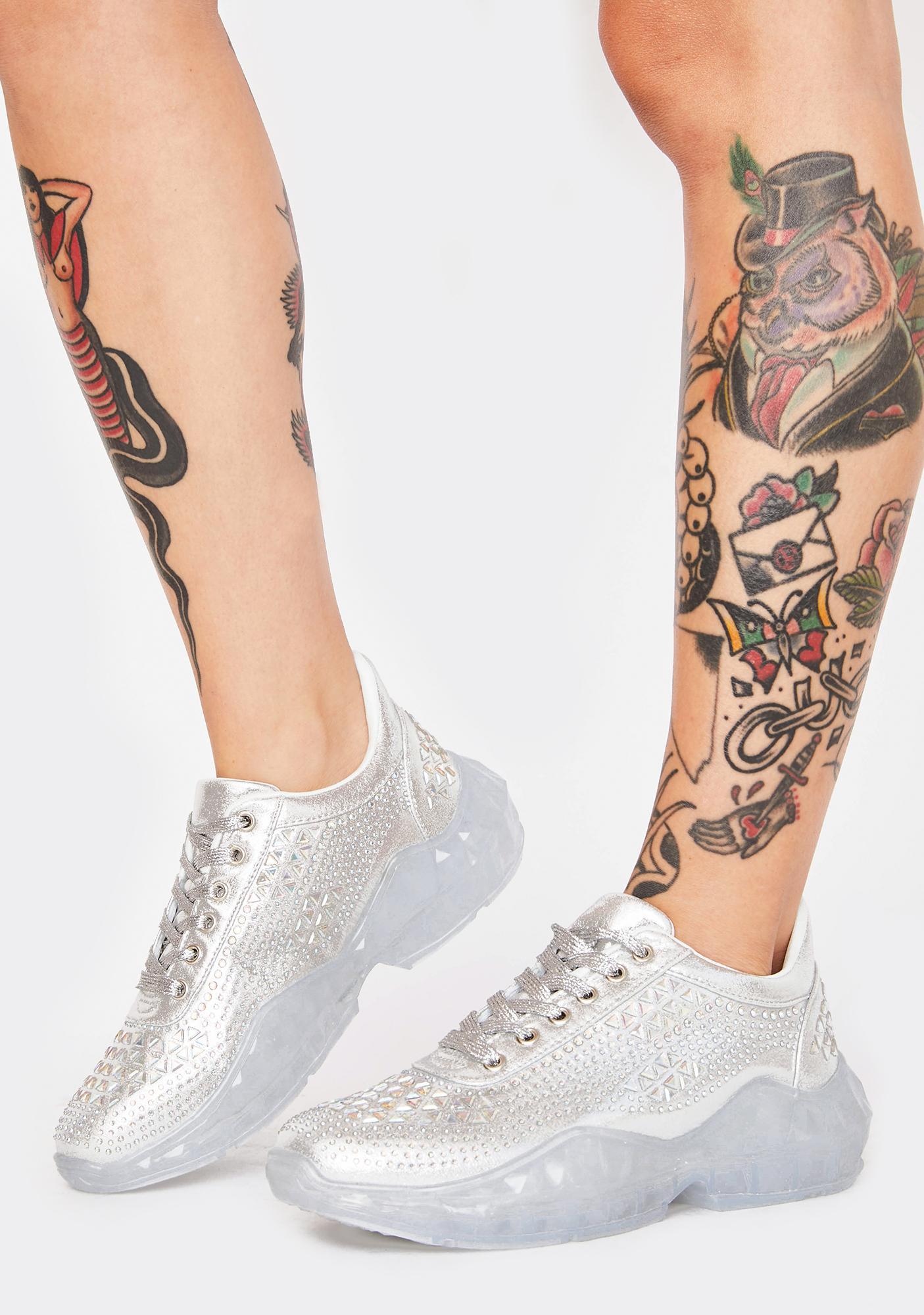 Break The Ice Diamante Sneakers