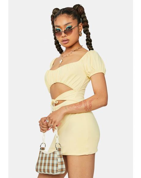 Hometown Honey Cutout Mini Dress