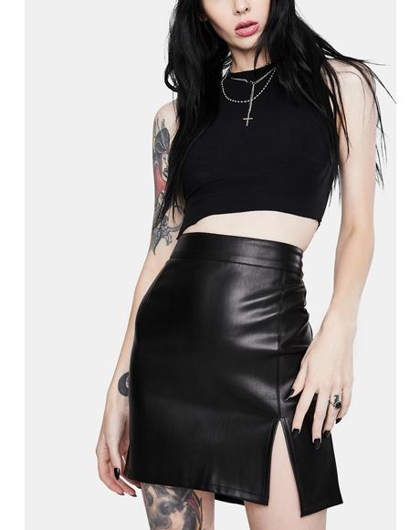 Knox Faux Leather Skirt