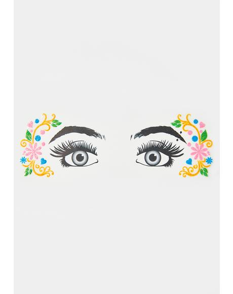 Glitzy Nymph Glitter Eye Decals