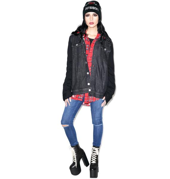 Disturbia Death Denim Hoody
