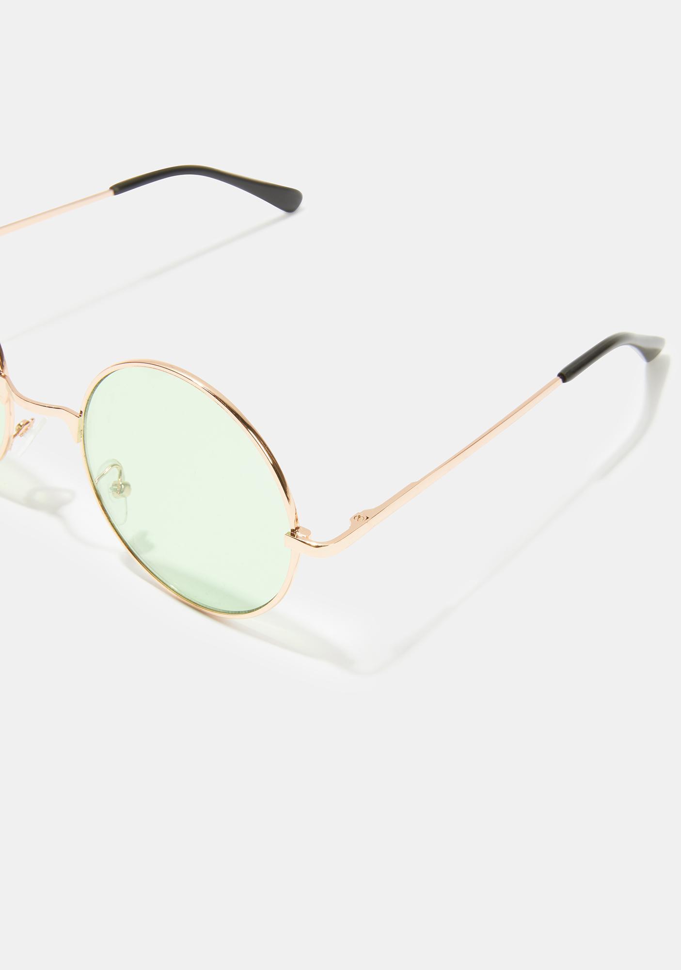 Busy Dreaming Circle Sunglasses
