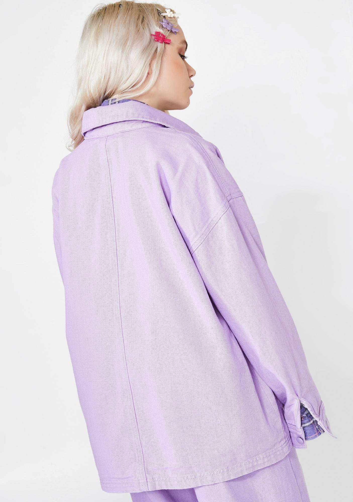 Lazy Oaf LO Lilac Chore Jacket