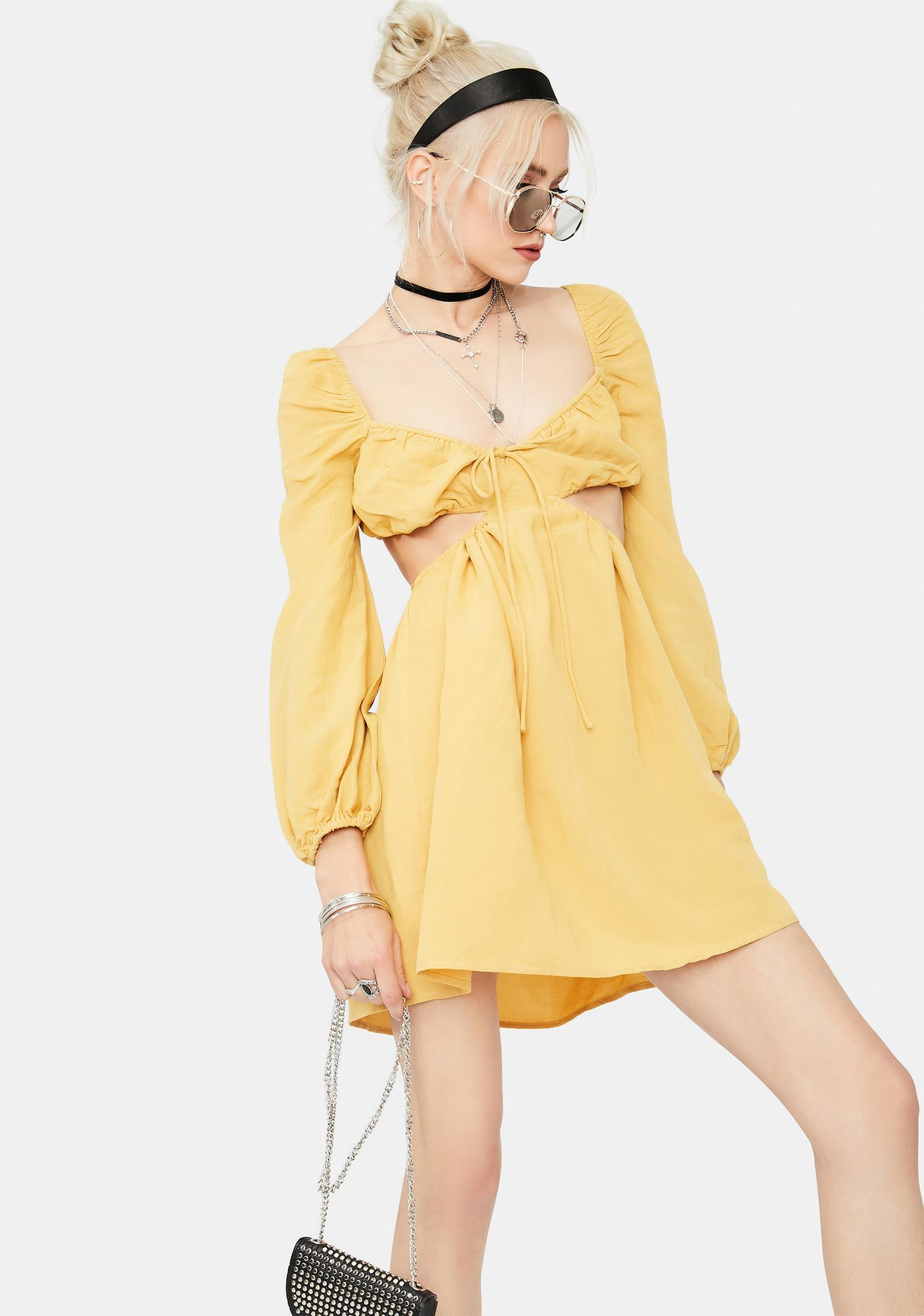 There She Goes Cutout Babydoll Dress