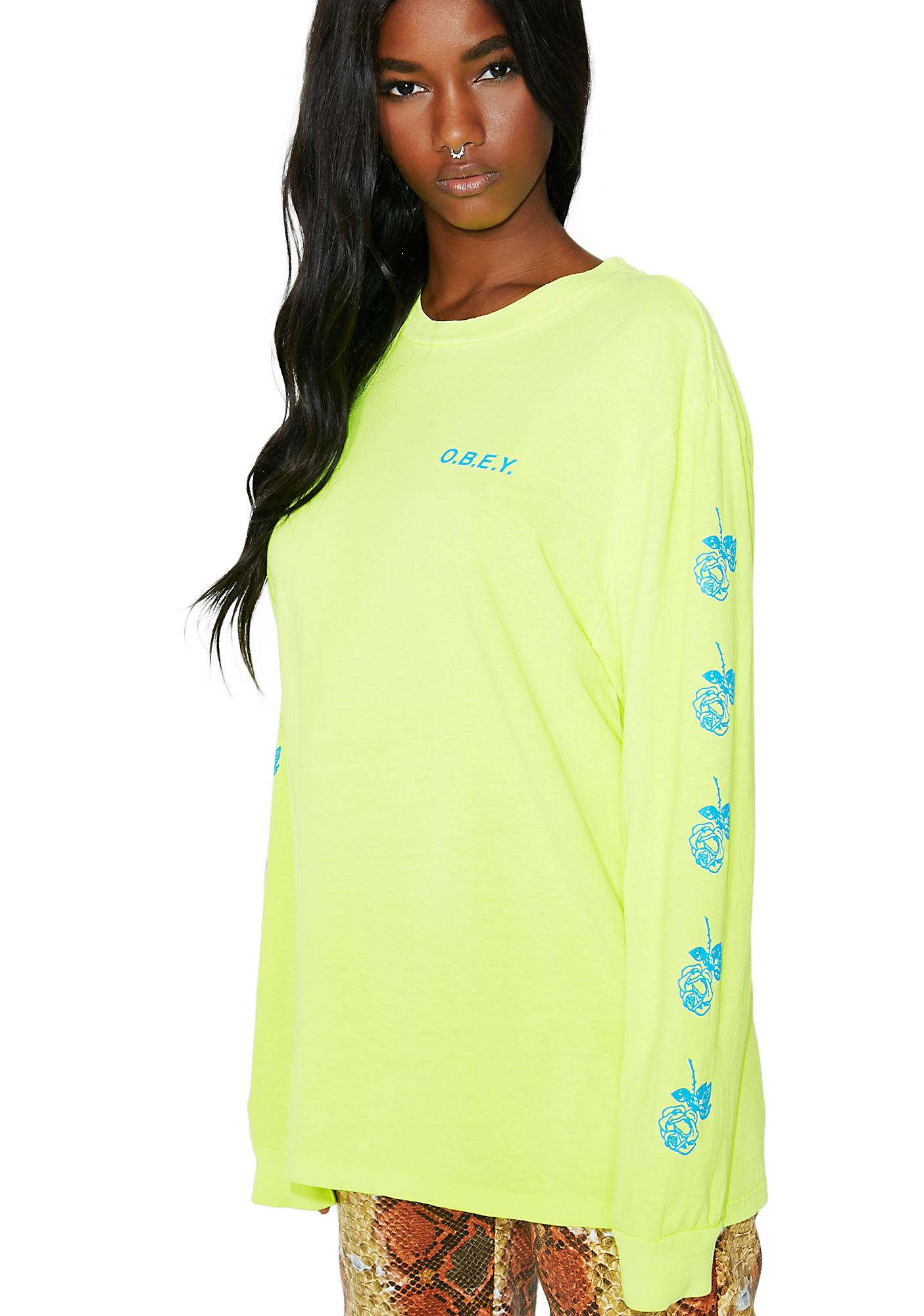Obey New Rose 2 Long Sleeve