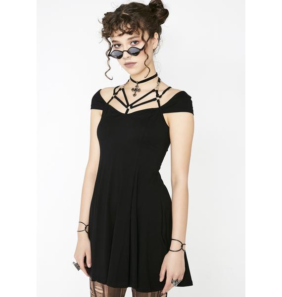 Punk Rave Sexy Tight Strap Dress