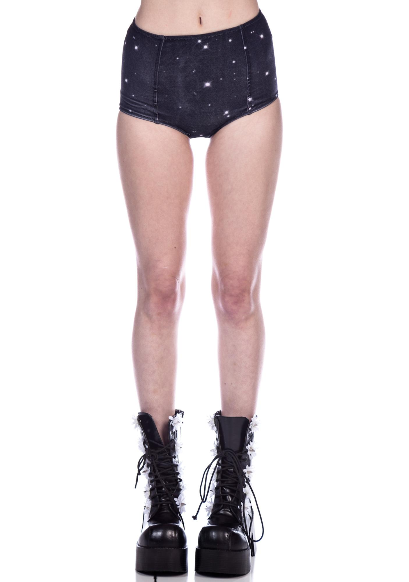 Wildfox Couture Star Crossed High-Waist Briefs