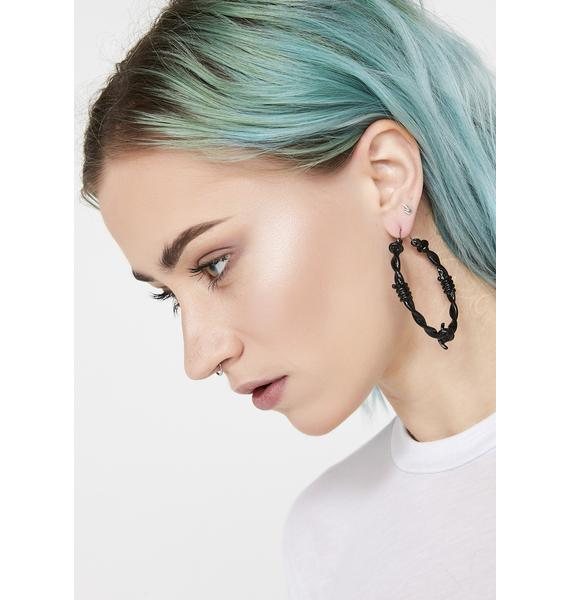 Quiet Riot Barbed Wire Earrings