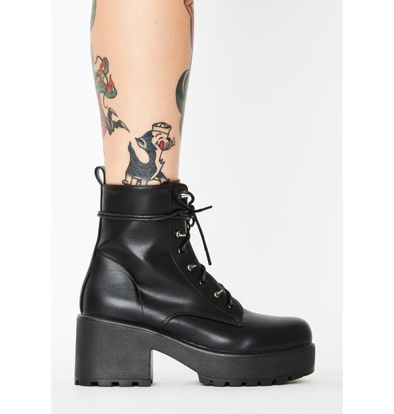 Koi Footwear Stud Lace Up Booties