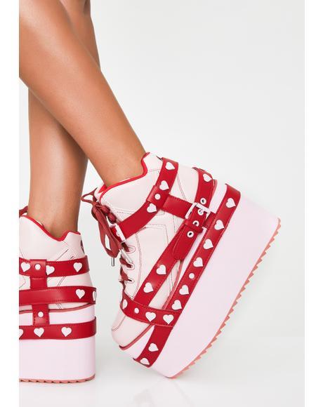 Qozmo Heart Platform Sneakers