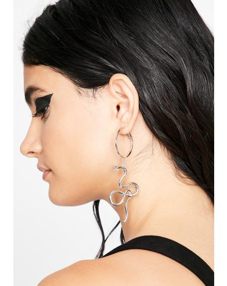 Venom In Ur Veinz Snake Earrings