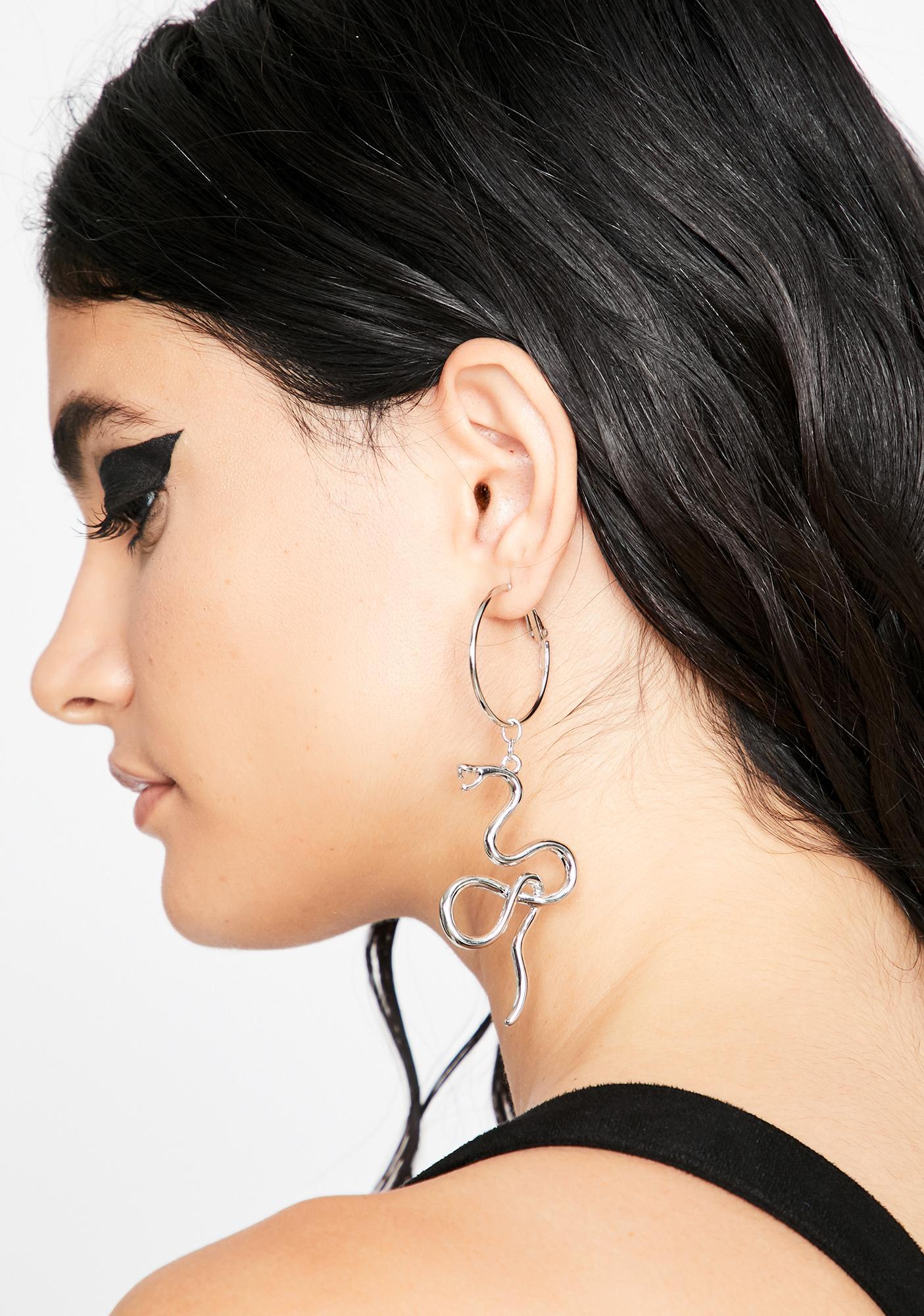 Venom In Ur Veinz Snake Earrings
