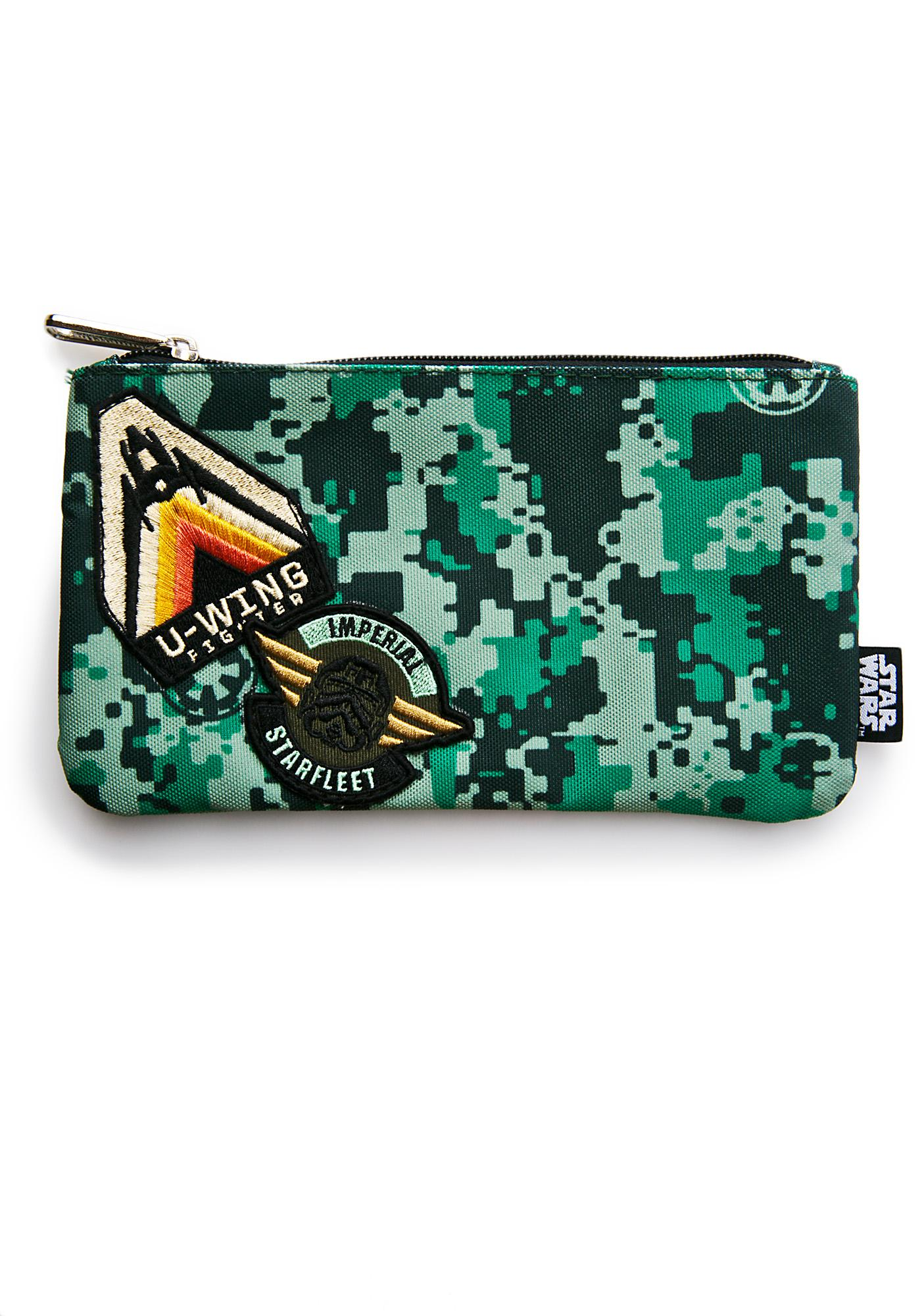 Loungefly X Star Wars Rogue One Imperial Camo Cosmetic Bag