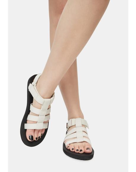 White Original Dorado Sandals