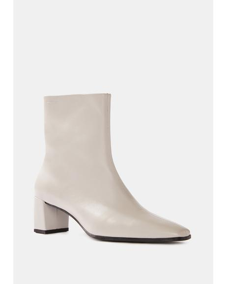Steel Gray Tessa Ankle Boots