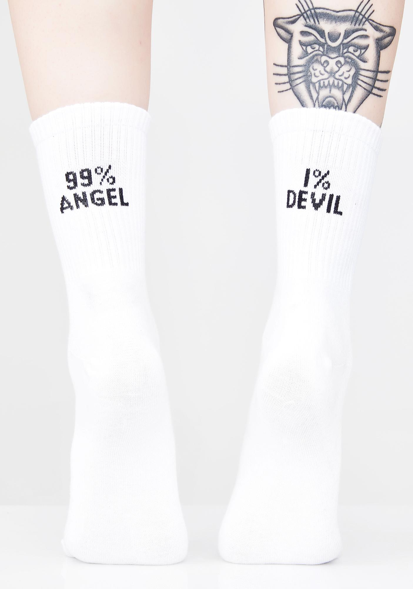 Mostly Pure Crew Socks